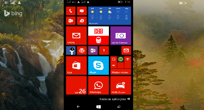 Ecrã de bloqueio dinâmico: configure no Windows Phone