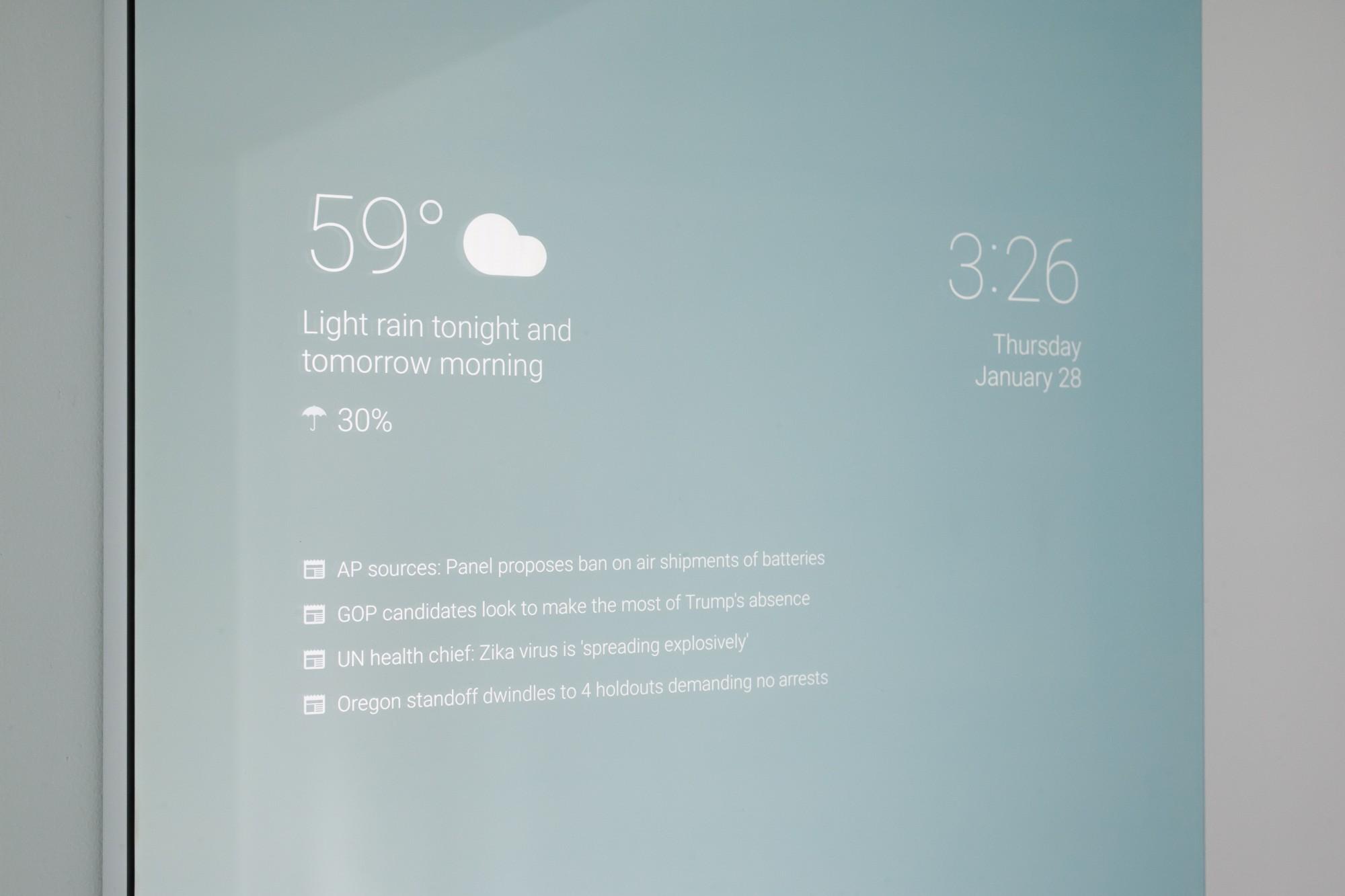Espelho inteligente, uma das últimas invenções da Google