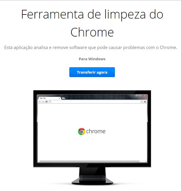 Google Chrome ferramenta de limpeza