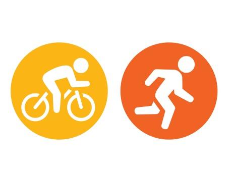Descontos por correr ou pedalar