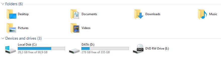 Windows 10 espaço em disco
