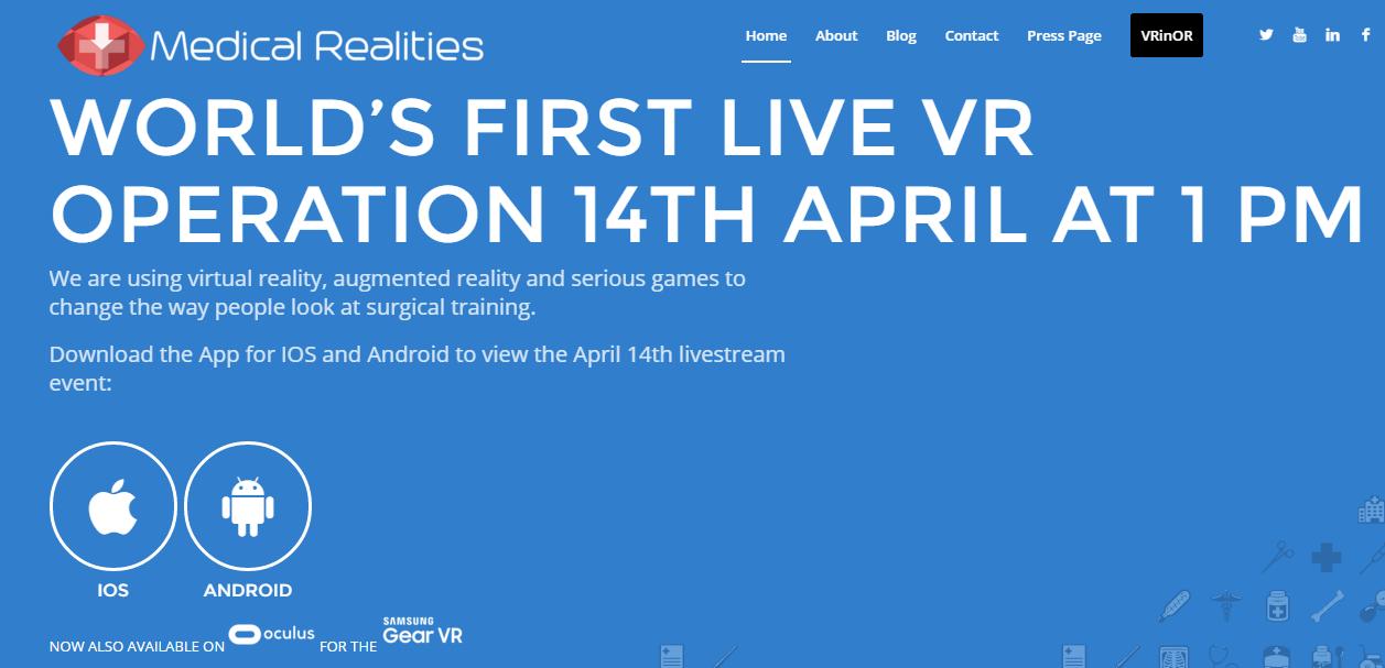 Assista a uma cirurgia em RV em directo