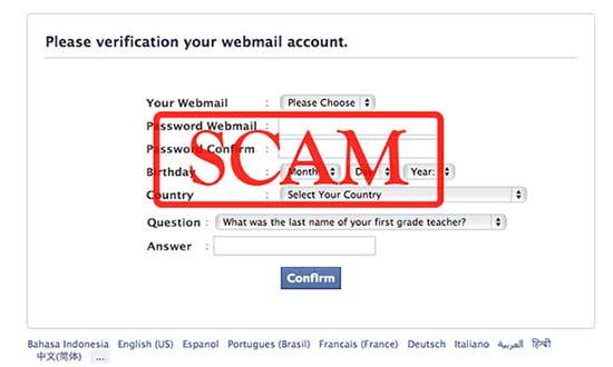 Novo ataque pishing no Facebook 3
