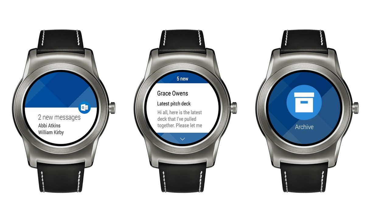 Outlook chega ao Android Wear