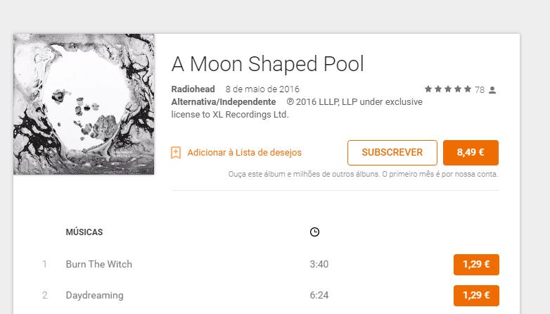 You are currently viewing É fã dos Radiohead? O novo álbum já está na Google Play Music