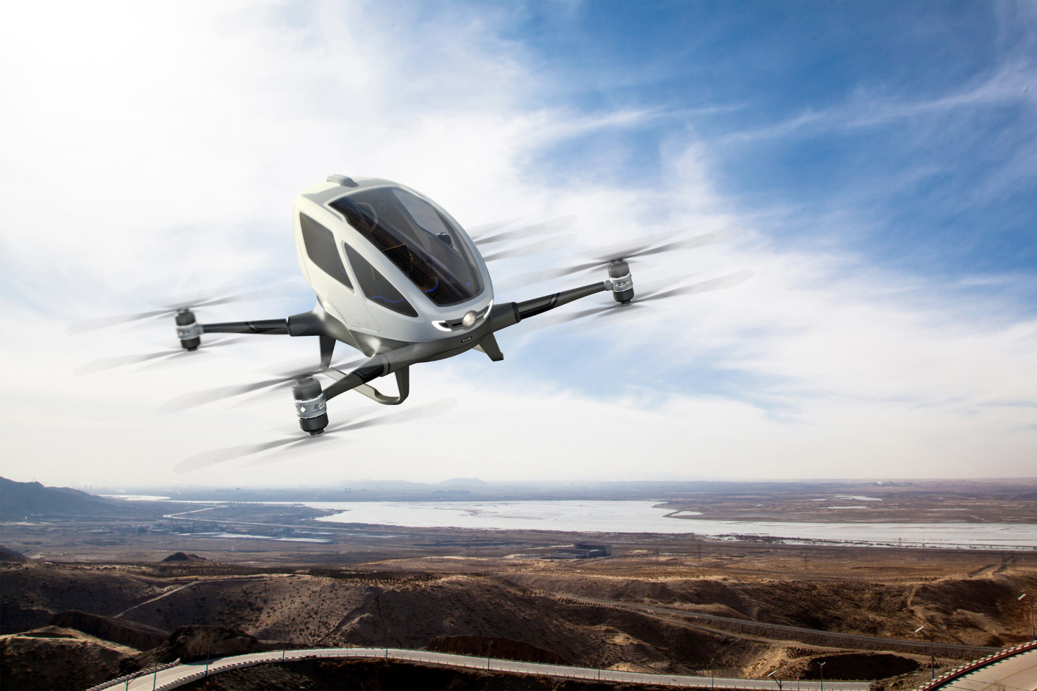 Read more about the article Ehang 184: O Drone táxi