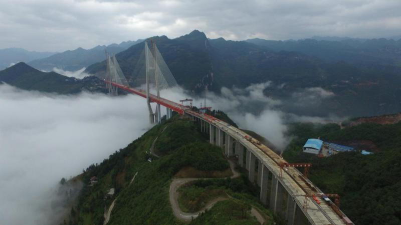 Ponte suspensa mais alta do mundo concluída na… China!