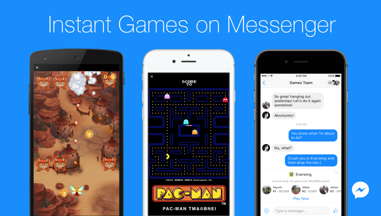 Facebook Messenger lança Instant Games