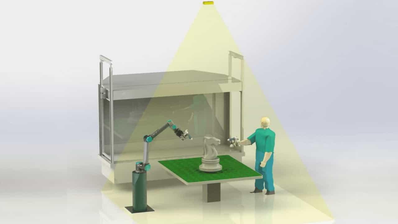 Robot pintor: Processo industrial 30% mais eficiente